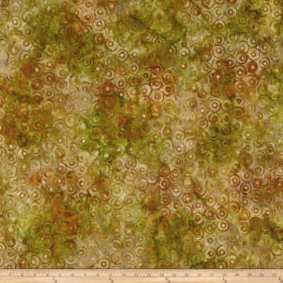Kaufman Natural Formation Batiks Circles Spice