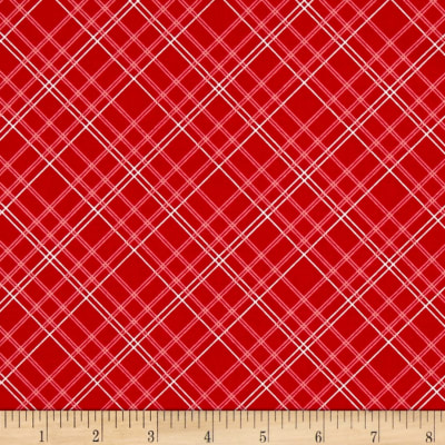 Riley Blake Calico Days Plaid Red