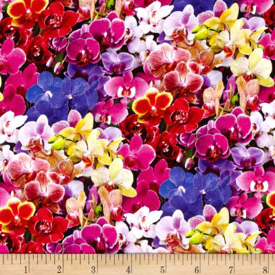 Digital Garden Orchids Printed Packed Multi
