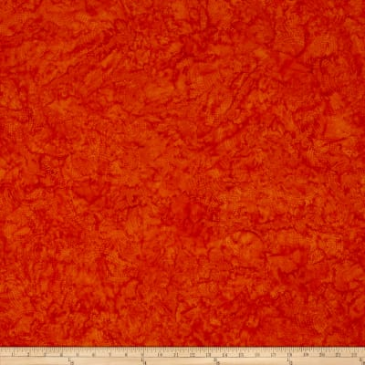 Bali Batiks Handpaints Dotty Circle Orange