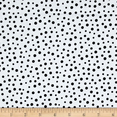Susybee Irregular Dot White/Black