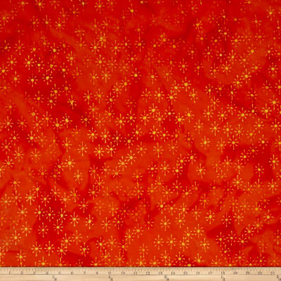 Island Batik Lavish Asterisk Orange/Gold