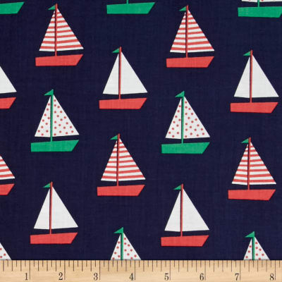 Dear Stella Whale of a Holiday Sailboats Navy