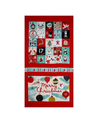 """25 Days of Christmas Large 23"""" Panel Advent Light Red"""