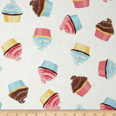Riley Blake Designer Novelty Cupcake Cream