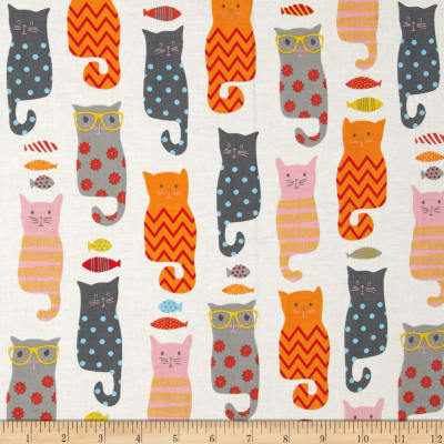 Rilely Blake Designer Novelty Smarty Cats Cream