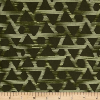 Indah Batiks Triangle Evergreen