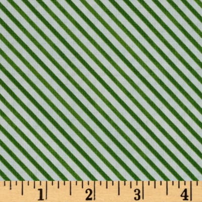 Snow Fun Diagonal Stripe Green