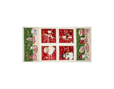 "Home For The Holidays 24"" Panel Multi"