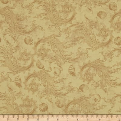 Sea Cottage Damask Caramel