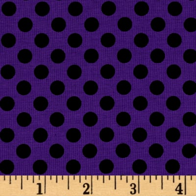 Kaufman Spot on Medium Dot Grape