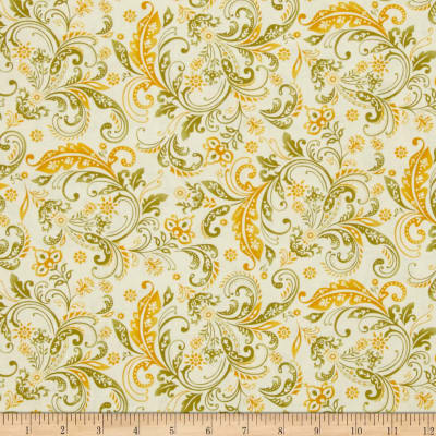 Welcome Harvest Paisley Cream