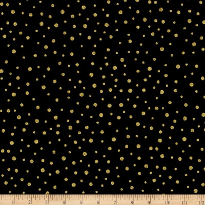 Spellbound Metallic Dot Black