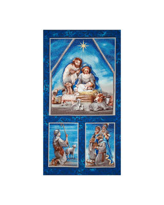 Nativity Metallic 23 In. Panel Multi