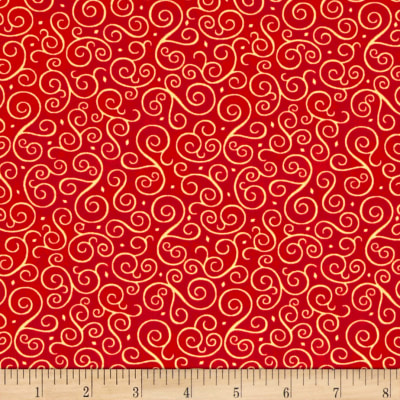 Christmas Elegance Swirl Red