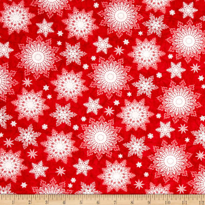 Holiday Traditions Snowflakes Red