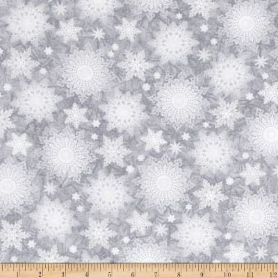 Holiday Traditions Snowflakes Gray