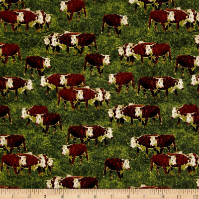 Cattle Drive Longhorn Steer Green