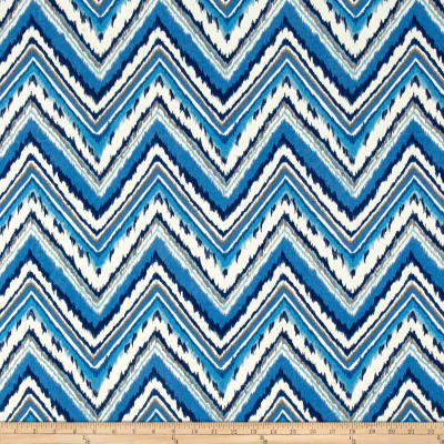 Dena Designs Indoor/Outdoor Chevron Charade Sapphire
