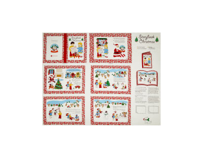 Storybook Christmas A Christmas Story Soft Book 35 In. Panel Multi