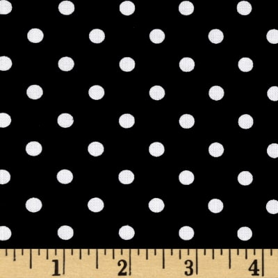 Riley Blake Dot & Dash Dots Black