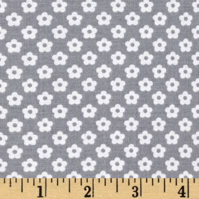 Riley Blake Dot & Dash Petals Gray