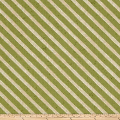 Woodland Holiday Stripe Green