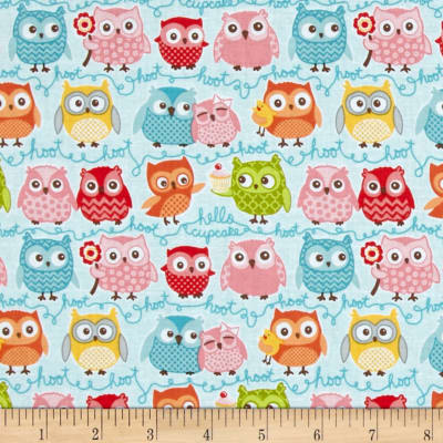 Riley Blake Tree Party Owls Blue