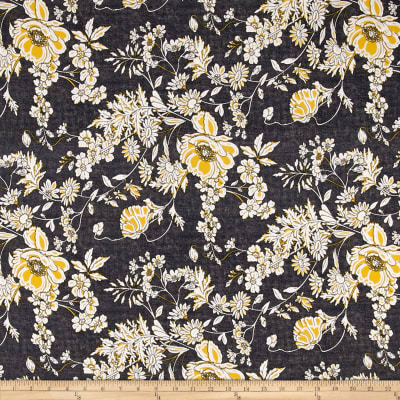Telio Venice Stretch ITY Knit Floral Print Black