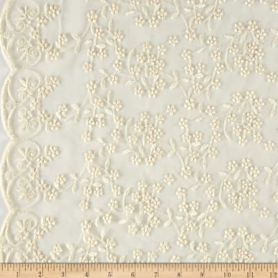 Telio Daisy Embroidered Lace Ivory