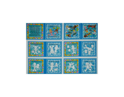 Poseidon's Playground Color Me 36 In. Book Panel Aqua