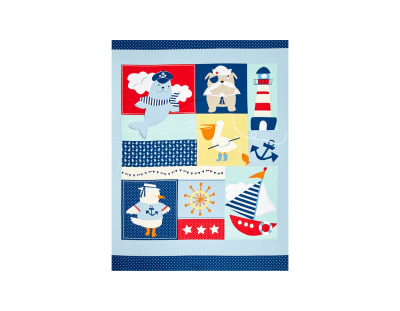 Ahoy Matey 35 In. Panel Multi