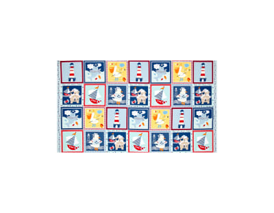 "Ahoy Matey 24"" Panel Blocks Multi"