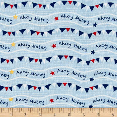 Ahoy Matey Flags Blue