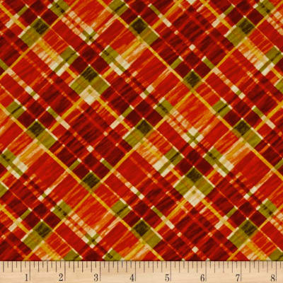Autumn Abundance Plaid Cream