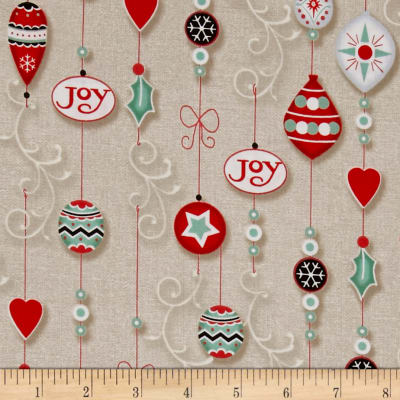 Christmas Wishes Ornaments Linen