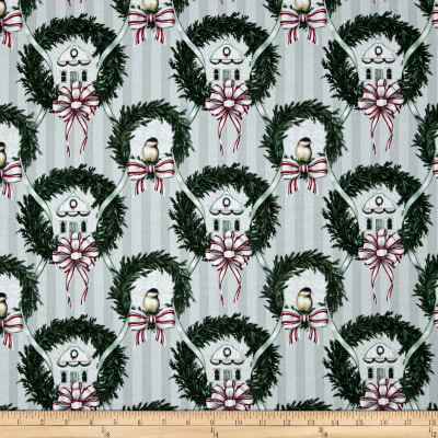 Home For The Holidays Scenic Wreaths Grey