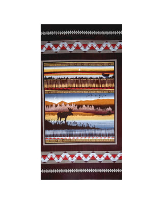 Moose Creek Lake 23 In. Panel Burgundy