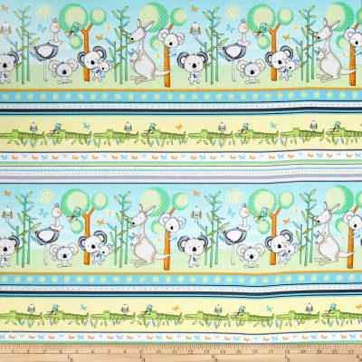 Koala Party Stripe Yellow/Aqua