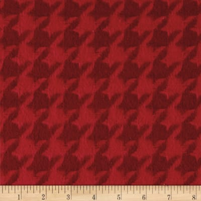 Color Catchers Yarn-Dye Flannel Houndstooth Red