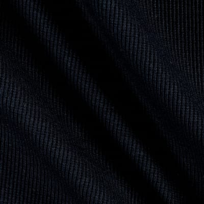 2x1 Stretch Rib Knit Black