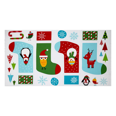 Kaufman Jingle 4 Stocking 24 In. Panel Holiday