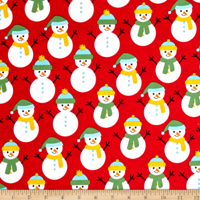 Kaufman Jingle 4 Snowmen Red