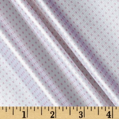 Silky Satin Charmeuse Pin Dot Pink