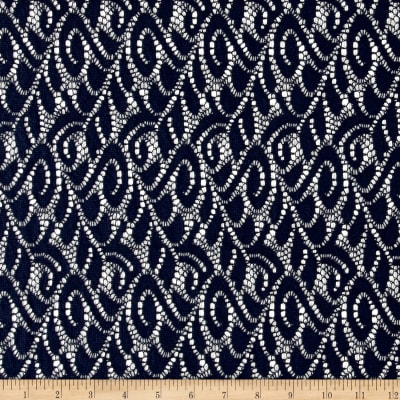 Crochet Lace Navy Swirl