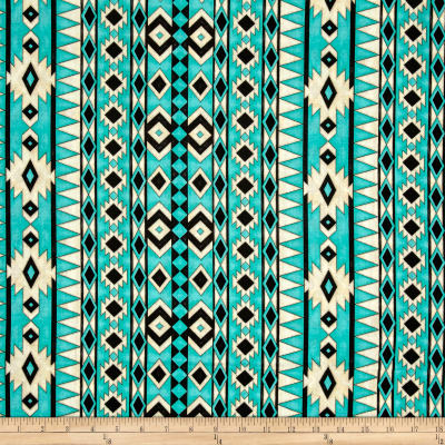 Spirit Of The Buffalo Navajo Stripe Turquoise