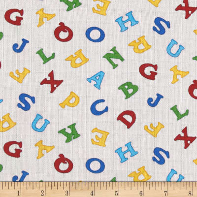 Baby Love Double Gauze Alphabet Multi