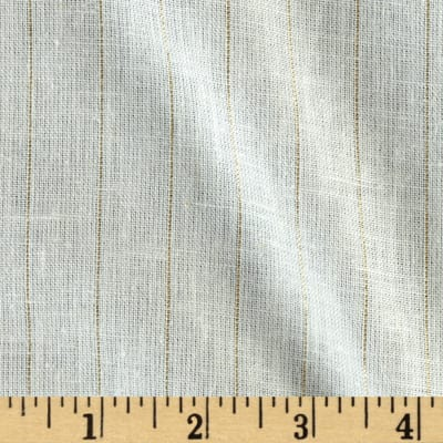 Lurex Stripe Gauze Gold/Ivory