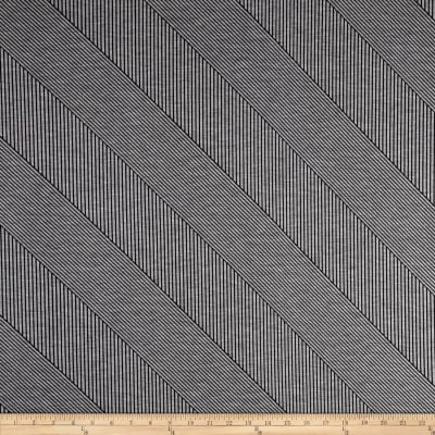 Abstract Stripe Double Knit Black/Grey