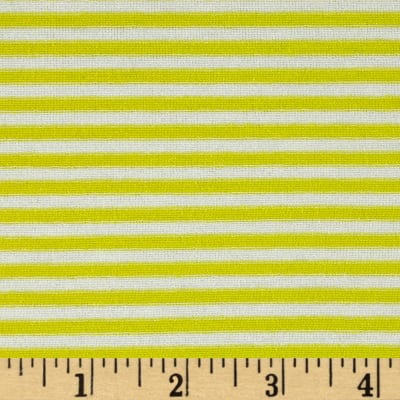Designer Jersey Knit Stripe Yellow/White